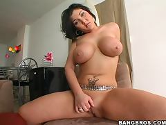 Claire Dames sucks a dick and gets fucked in reverse cowgirl and other positions
