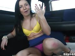 Ashli Orion gets fucked in a minivan after sucking a dick
