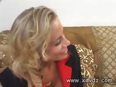 Hot MILF Kylie Worthy Makes Husband Mad With Her Secretary Suit And Thigh High Stockings