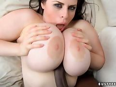 Daphne Rosen the brunette with massive boobs with Black guy