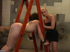 Adelaida gets punished and fucked by hot lesbian Kathia Nobili