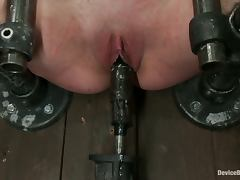 Tattooed Girl with Dyed Hair Krysta Kaos Tortured in BDSM Vid