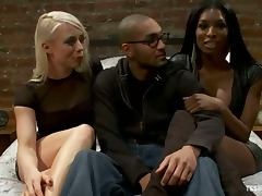 Lorelei Lee gets fucked by ebony tranny Natassia Dream and some man
