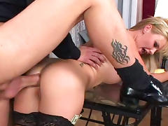 Anal blonde Tarra White is getting drilled in a hardcore way