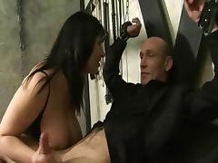 Josephine James and Alexis Silver in fetish 3some
