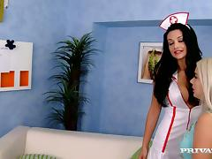 Nesty gets fucked by a doctor and his sexy nurse Aletta Ocean