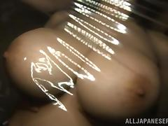 big boobs wrapped in plastic foil