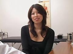 Adorable Jap slut crammed from behind during a medical exam