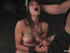 Bobbi Starr gets her mouth and sweet pussy fucked hard in BDSM clip