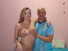 Teen shows her boobs and fuck with this man