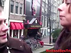 Blonde Euro whore blows a horny tourist