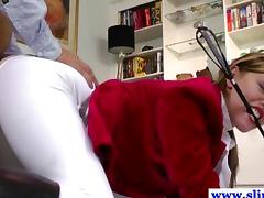 Old english guy ravaging sweet blonde babe