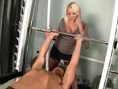 Angel Vain is drilled by a thick cock after sucking on it