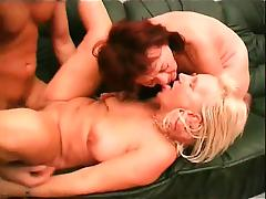 Very nasty blonde mature slut spreads her legs and gets her