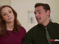Busty milf Chanel Preston makes out with a guy and rides his wang