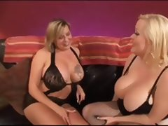 2 Blonde Busty Bbw Girl On Girl Action